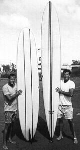 #102p RB and Diff/Surfboards Hawaii 1962 Photo: Peter Gowland