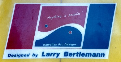 # 119 Hawaiian Pro Designs by Larry Bertlemann Twin fin 1978
