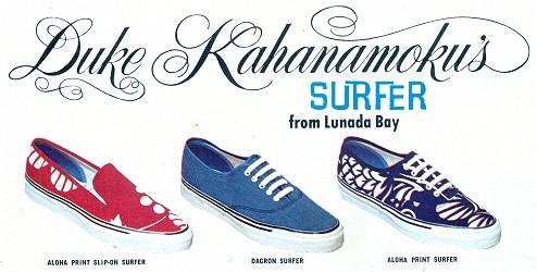 7e460ae6aa1d23 Lunada Bay Enterprises aloha print Surfer-Tennies come in blue
